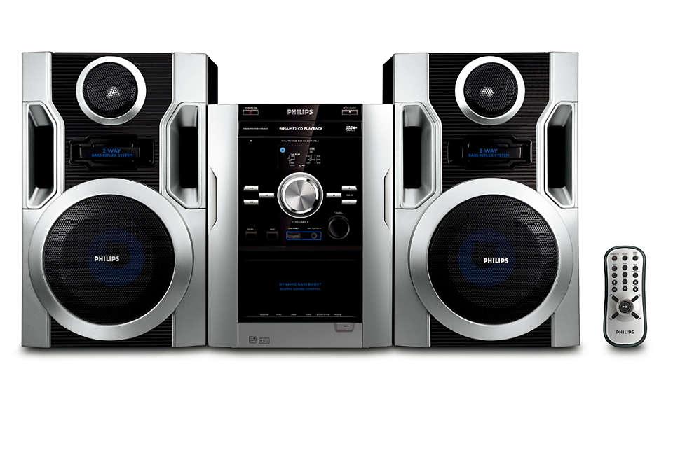 在聆聽您喜歡的 MP3-CD 音樂時享受豐富的音效