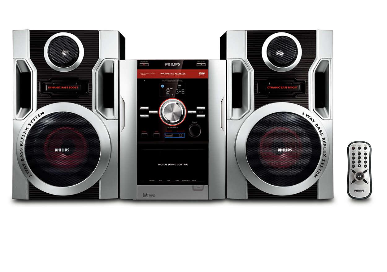 Ouça suas músicas de CD de MP3 favoritas com som rico