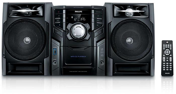 Enjoy MP3-CD music in rich sound