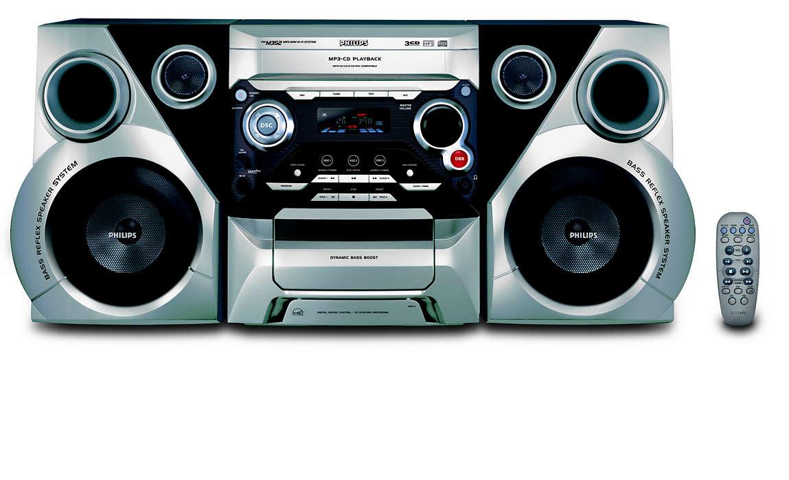 MP3 lejátszás gazdag hangzásélménnyel