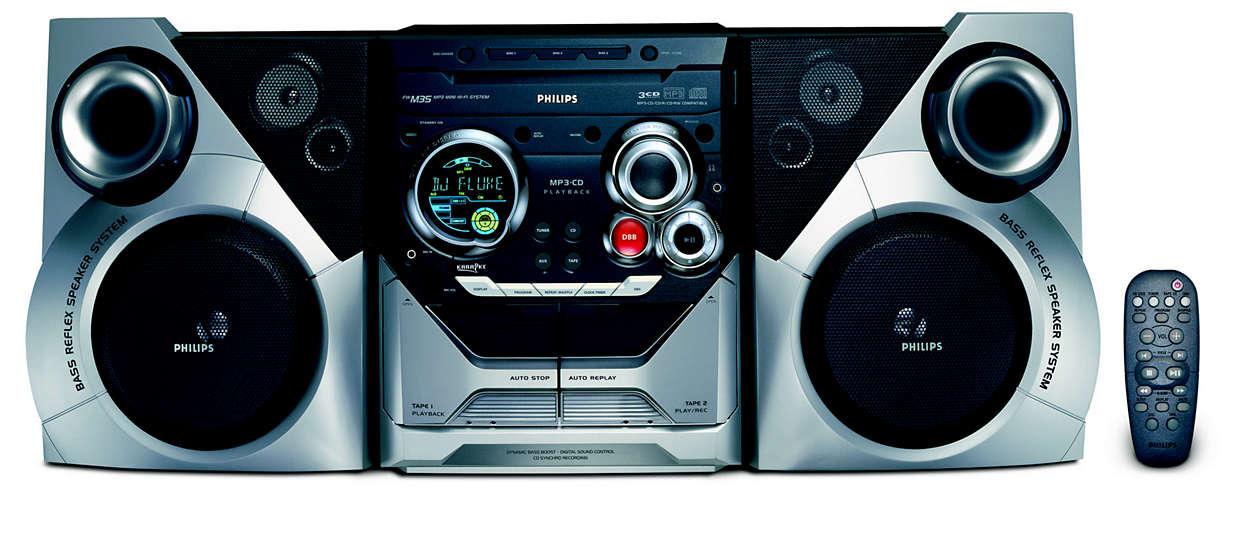 Reproducción MP3 con un sonido excelente
