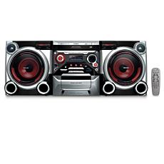 FWM377/BK  Mini Hi-Fi System c/MP3
