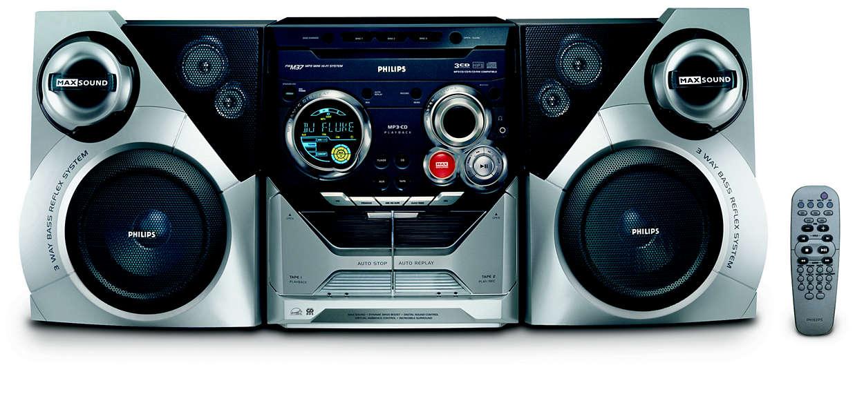 MP3-avspilling med MAX-lyd