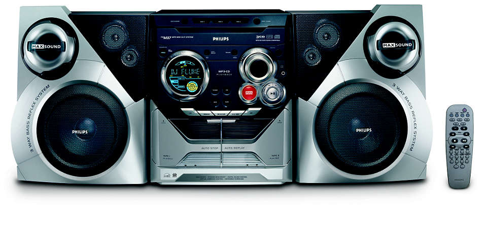 Mini Hi Fi anlegg for MP3 FWM37712 | Philips