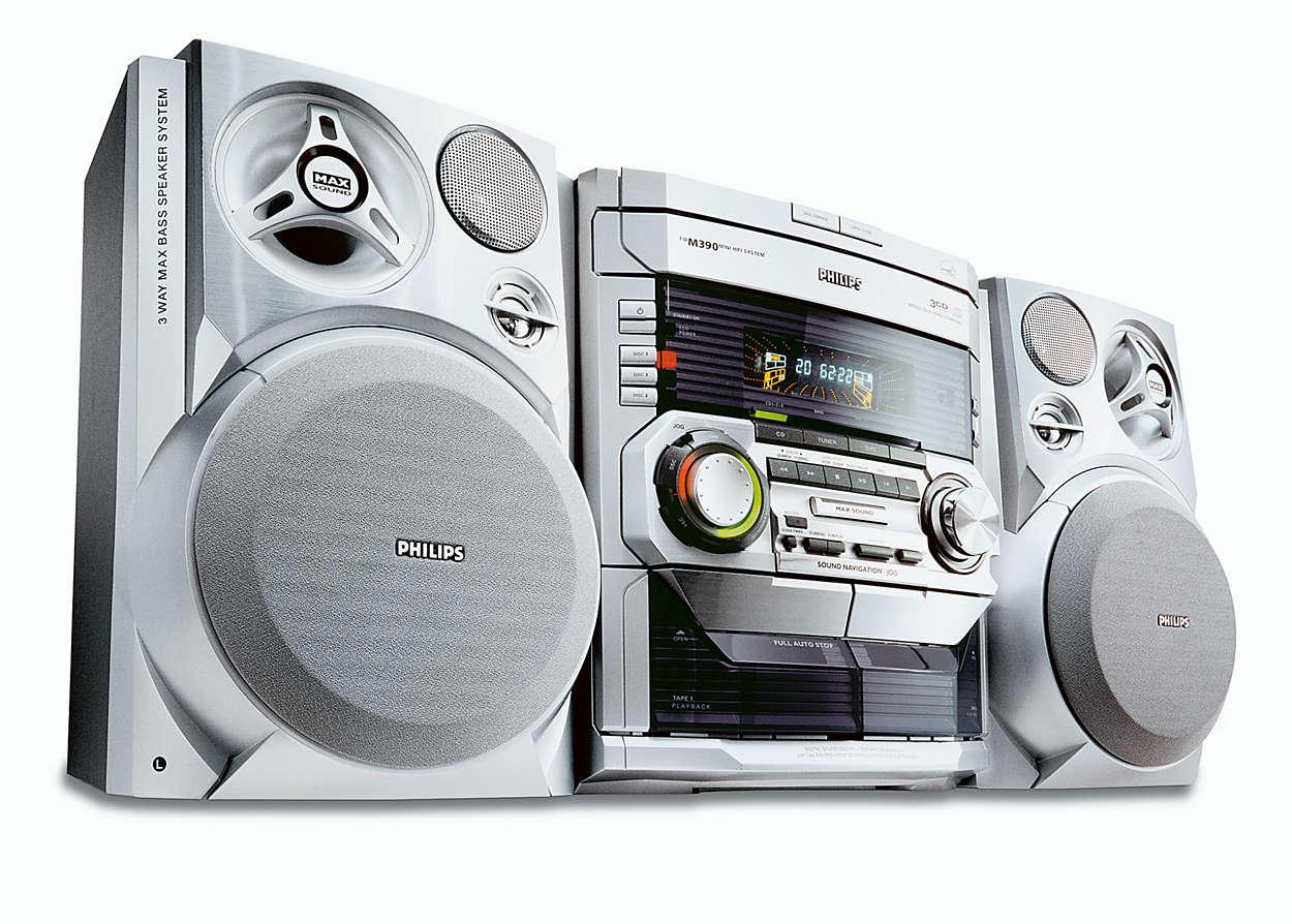 MP3-toisto ja MAX-ääni.