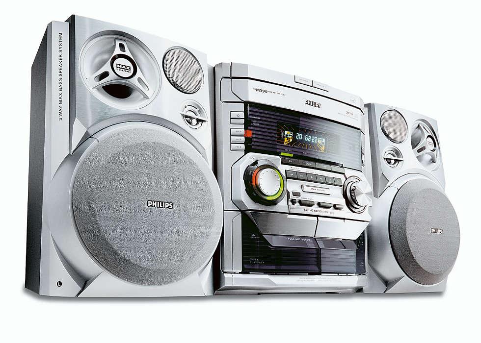 MP3 lejátszás MAX Sound hangzással