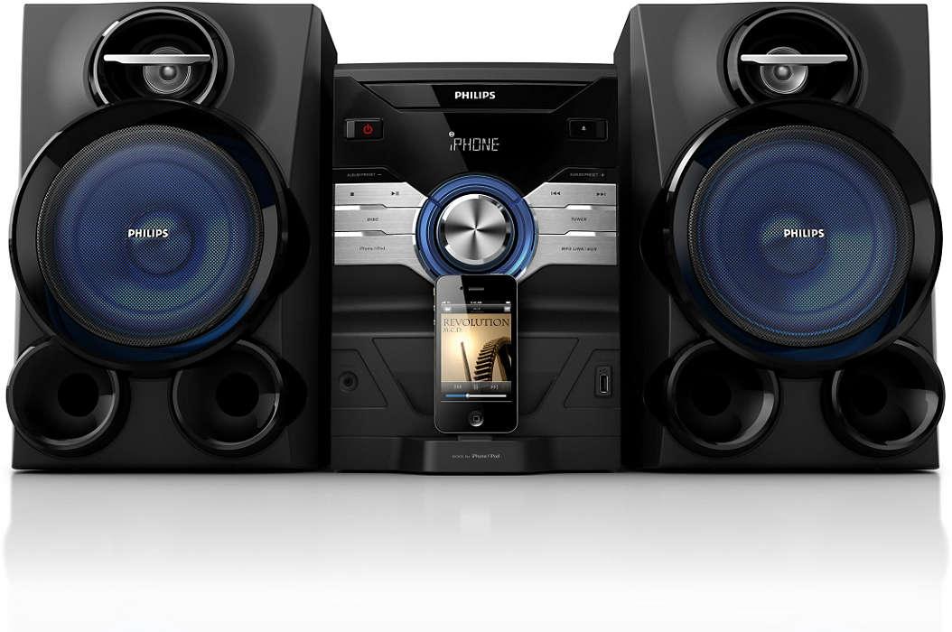 Наслаждавайте се на музиката от iPod/iPhone с мощен звук