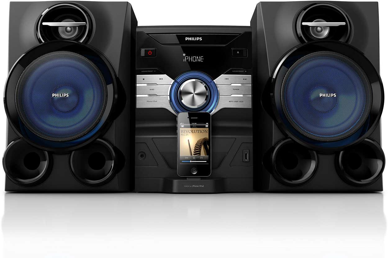 Disfruta de la potencia de la música de tu iPod o iPhone