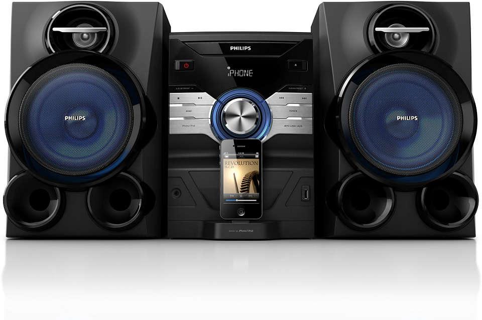 Uživajte u glazbi s uređaja iPod/iPhone uz snažan zvuk