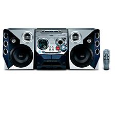 FWM572/BK  Mini Hi-Fi System com MP3/WMA