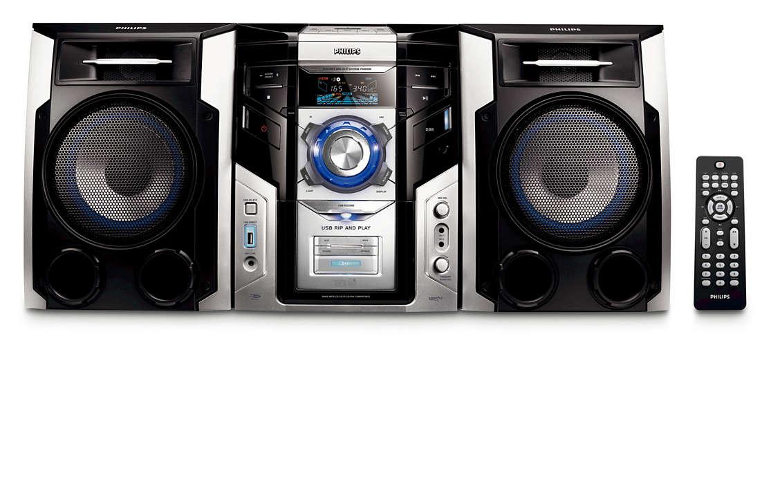 Savuraţi muzica MP3, cu un sunet bogat; conectivitate optimă