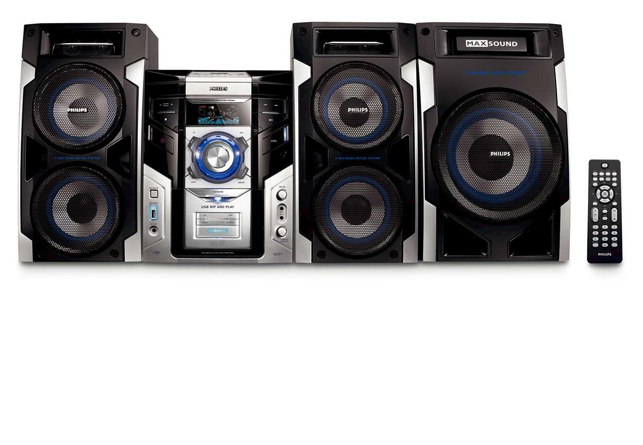Gled deg over MP3-musikk med fyldig lyd og flott tilkobling
