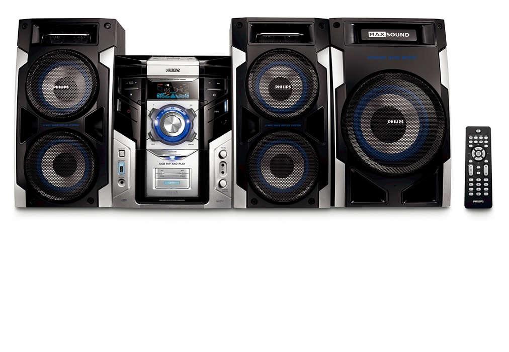 Desfrute de MP3 com riqueza de som e fabulosa conectividade