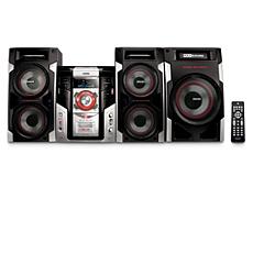 FWM593/BK  Mini Hi-Fi System c/MP3