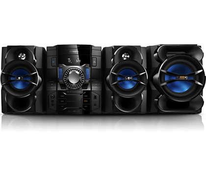 Audio potente, chiaro ed eccellente