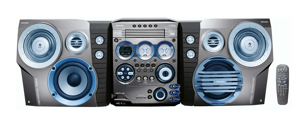 Fjernstyr MP3-musikk fra PCen