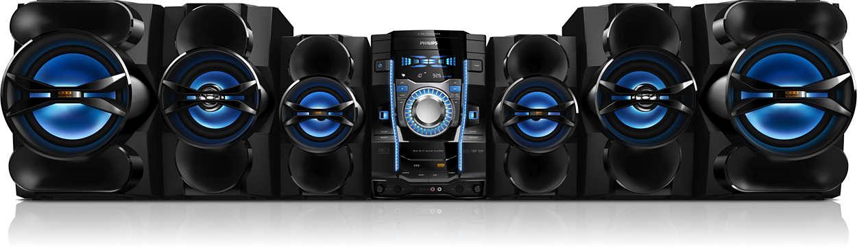 Magnífico sonido, claro y potente