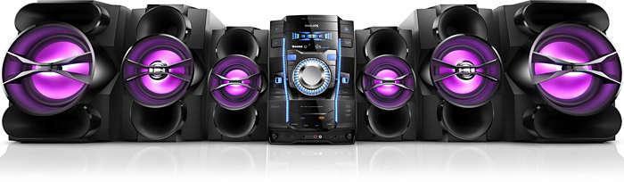 Música com potência e sem fio