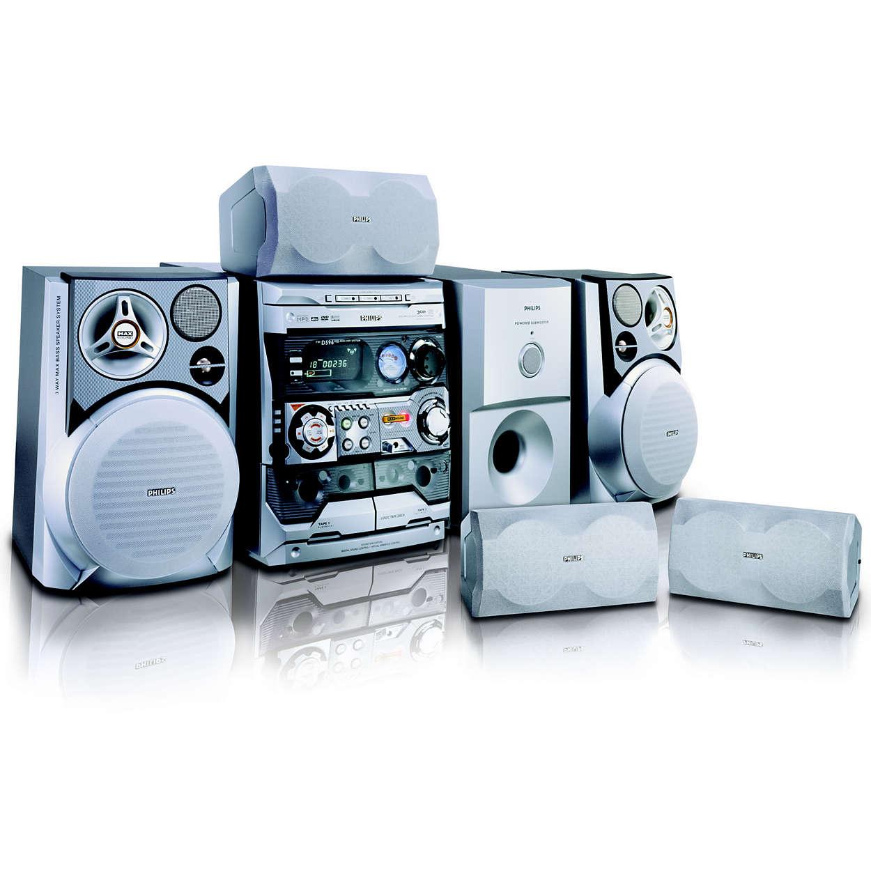 Mini Hi-Fi System FW-D596/21M | Philips