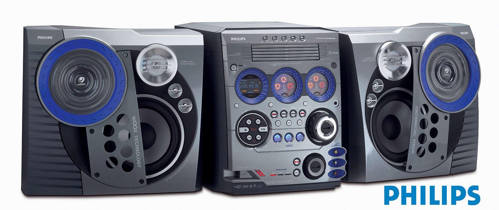 Ligação USB ao PC para streaming de MP3