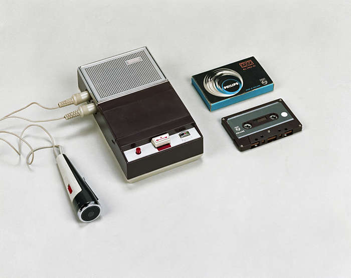 First Philips cassette recorder, 1963