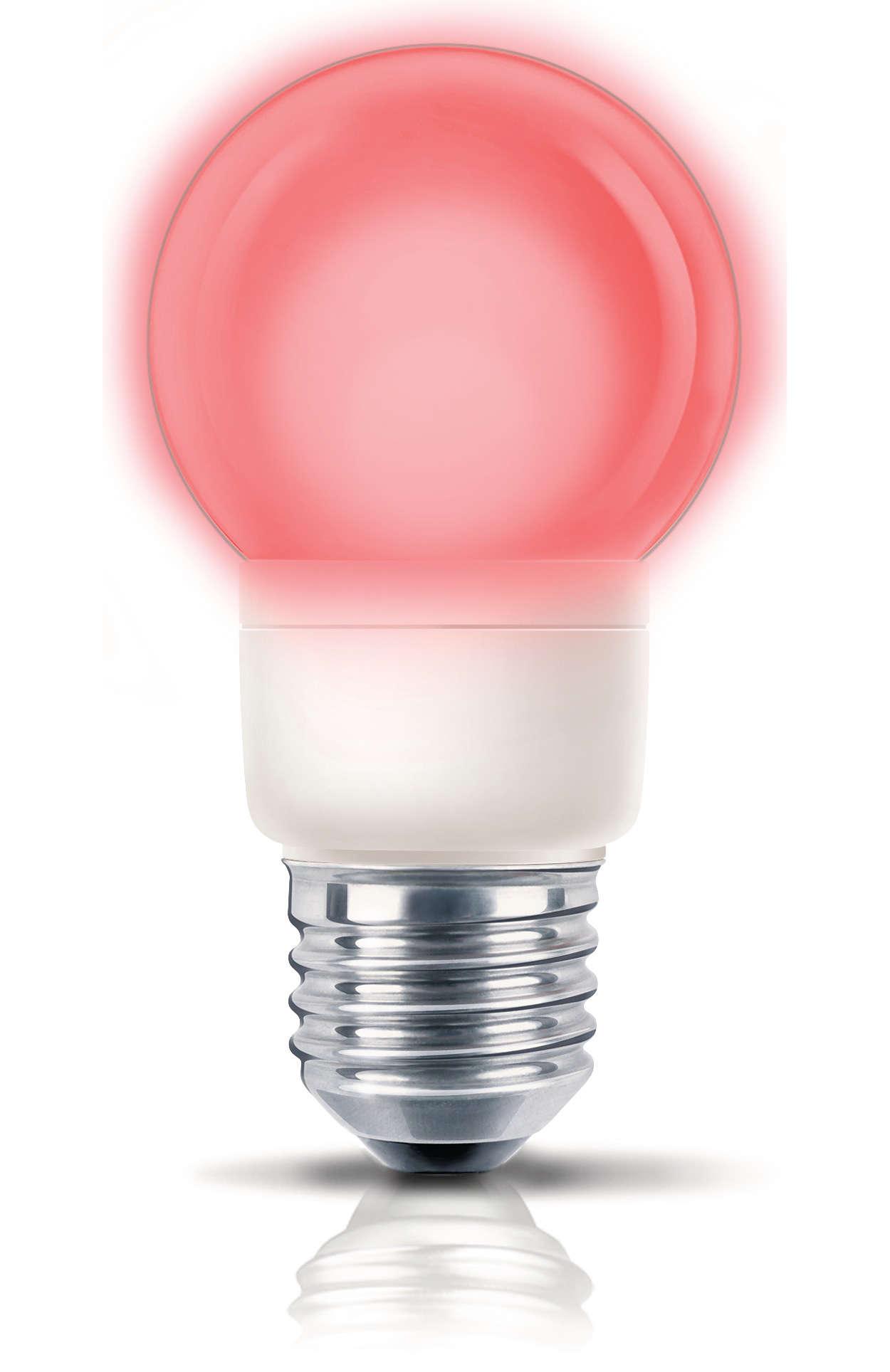 Divertida luz colorida