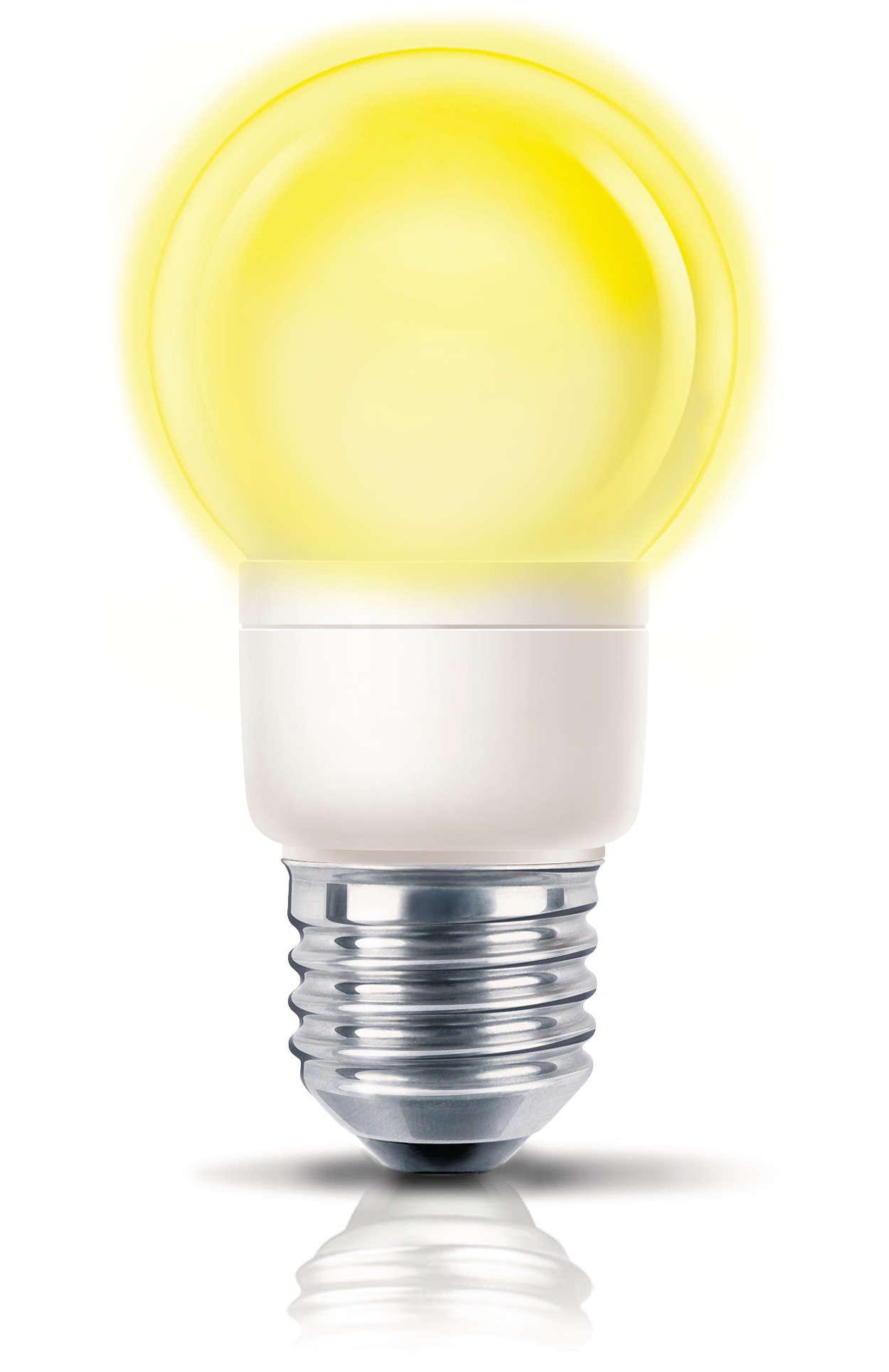 Muntert, farvet lys