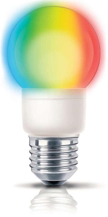 Luz de divertidos colores