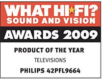 "Лауреат премии ""What Hi Fi? Sound & Vision Awards 2009"""
