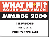 "Лауреат премии ""What Hi Fi? Sound & Vision Awards 2009"""