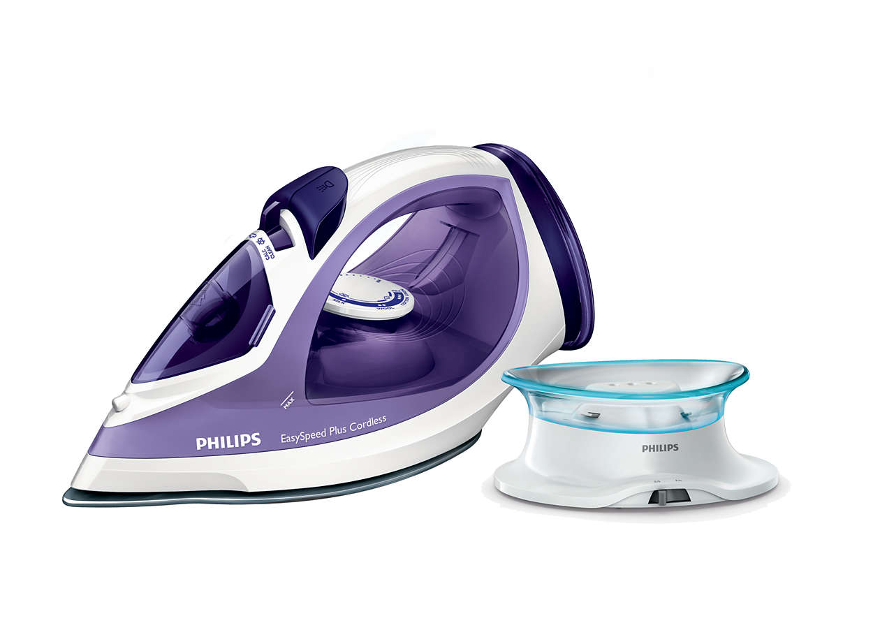 Faster cordless ironing, from start to finish