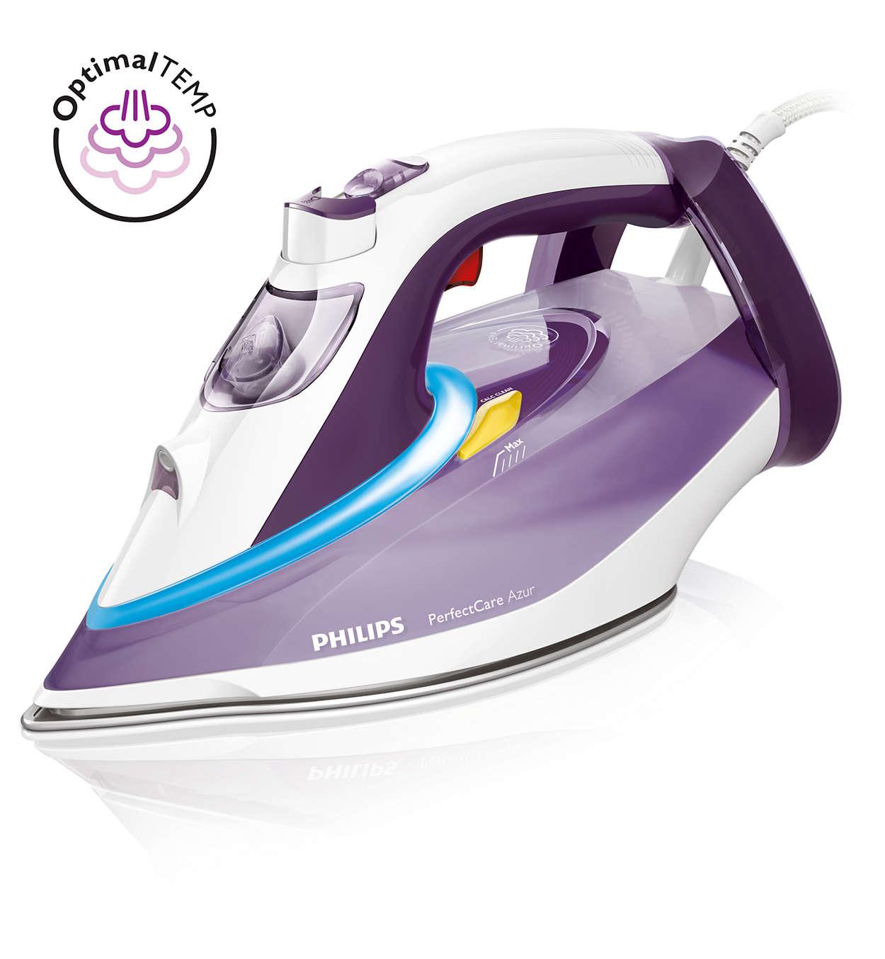 O ferro a vapor mais rápido da Philips*