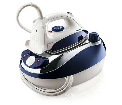 Repassez deux fois plus vite grâce à la vapeur haute pression.