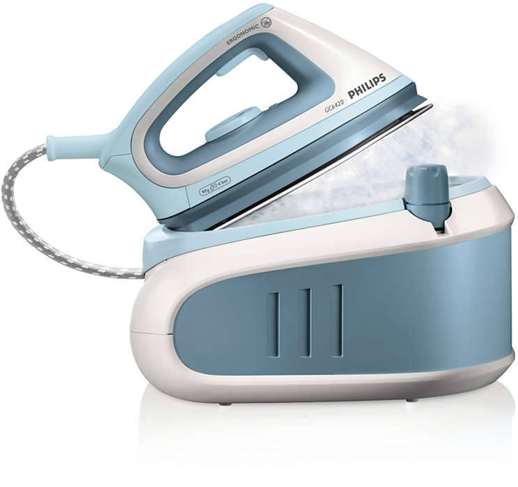 Duplique la velocidad de planchado con vapor a presión