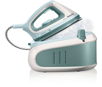 Double your ironing speed with pressurized steam