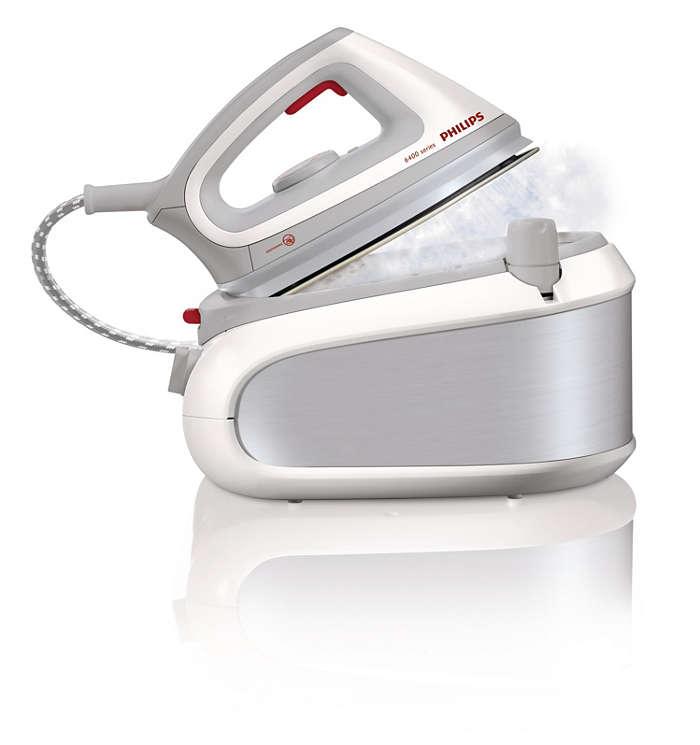Verdubbel uw strijksnelheid met stoom onder druk