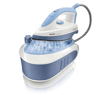 Double your ironing speed with pressurised steam