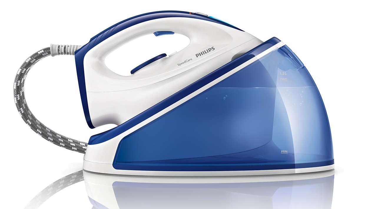 Schnelleres Bügeln mit 2x mehr Dampf**