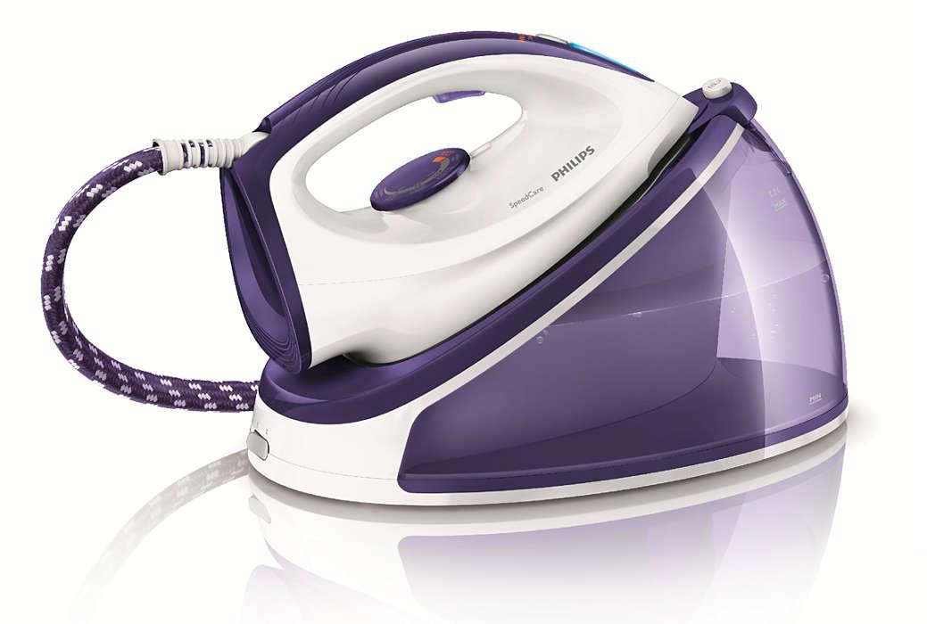 Ταχύτερο σιδέρωμα με διπλάσιο ατμό**