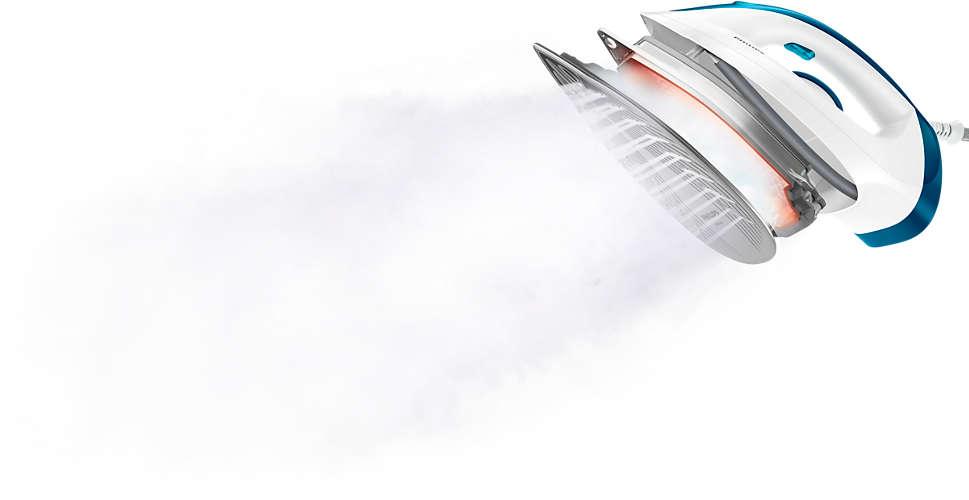 Engomar mais rápido com 2 vezes mais vapor*