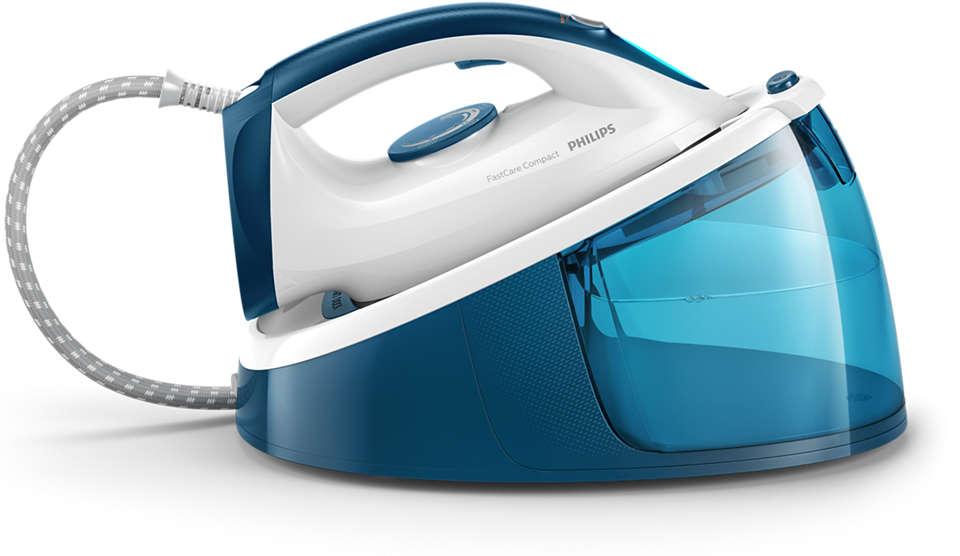 Schnelleres Bügeln mit 2x mehr Dampf*