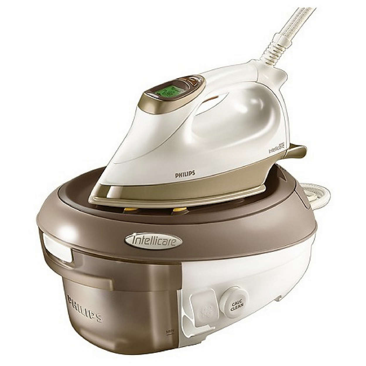 Kraftig stryking med damp med trykk