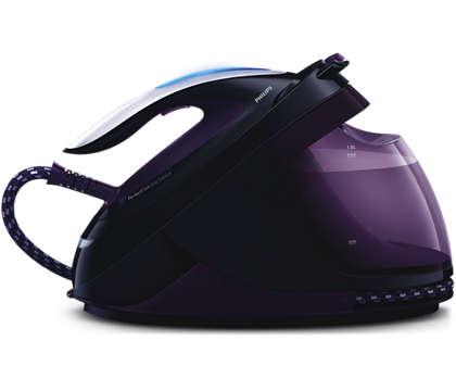 Il vapore più potente per una stiratura più veloce*