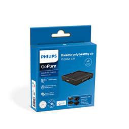 GoPure SelectFilter Plus 120 แผ่นกรองสำรองสำหรับเครื่องฟอกอากาศในรถ