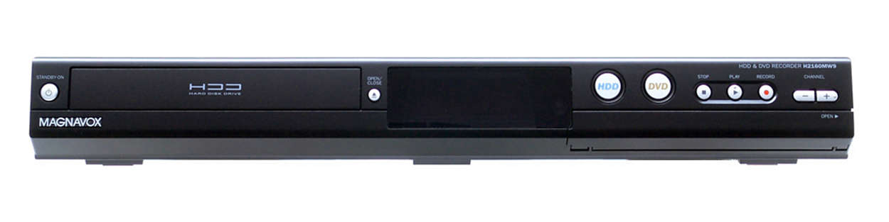 160GB HDD & DVD Recorder