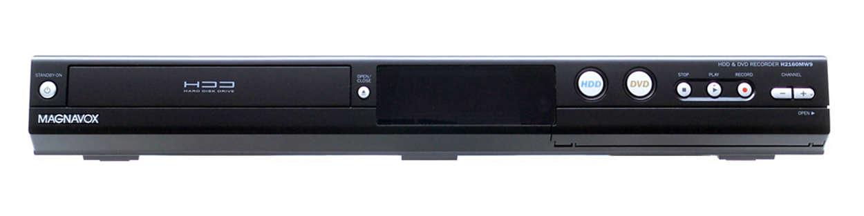 Enregistreur DVD avec disque dur de 160Go