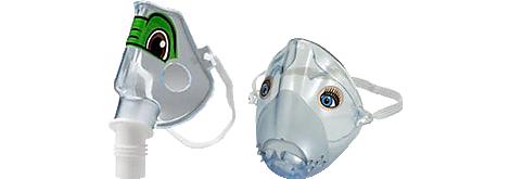 Mascarillas pediátrica Sidestream Nebulizadores y compresores reutilizables/desechables