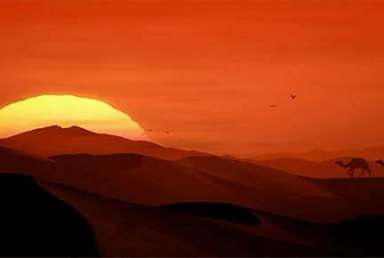 Silent Desert Scenery