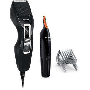 Hairclipper series 3000 Hårklipper, ikke oppladbar (inkl. nesehårstrimmer)