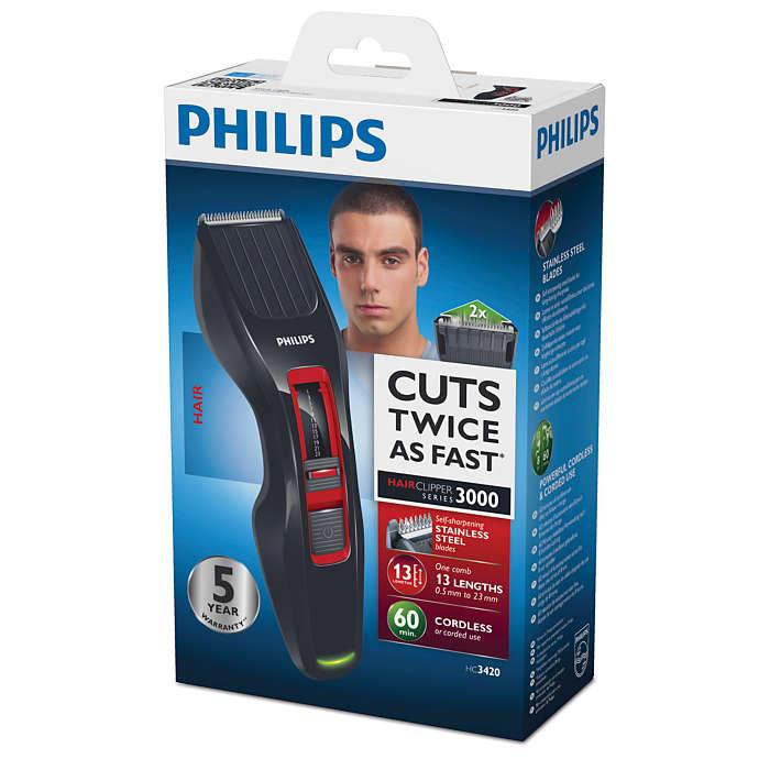 Máquina corta cabello serie 3000  corta dos veces más rápido  7e6b0b03de37